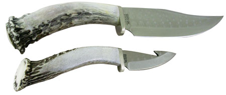Silver Stag hunting knives